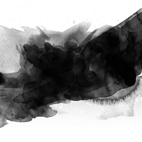 Abstract Black Watercolor by Abstract Background With Black Watercolour Stain Vector