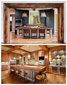 rustic style for the kitchen drummond house plans blog With idee deco cuisine avec armoire style scandinave