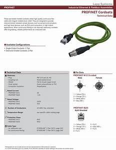Lapp Online Catalog  Lapp Systems Profinet Cordsets  2 Pair  M12  U0026 Rj45 Connectors