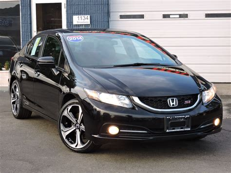 Boulgom Si E Auto Used 2014 Honda Civic Sedan Si At Saugus Auto Mall