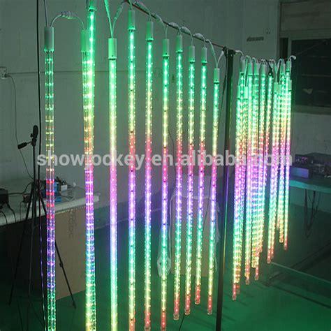 multi color led tube lights multi color led snow falling tube light 3d outdoor led