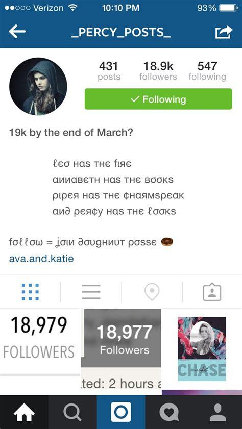 get fans on instagram hey all of you pjo hoo fans go follow percy posts on