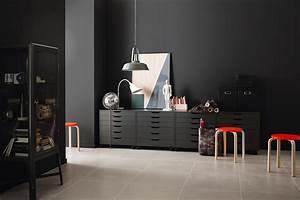 Schöner Wohnen Wandfarbe : schwarze wandfarbe bilder ideen couch ~ Watch28wear.com Haus und Dekorationen