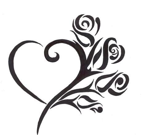 rose heart tattoo ideas  pinterest heart tat
