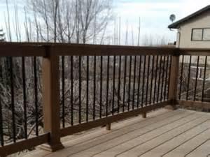 wood deck railing idea decor