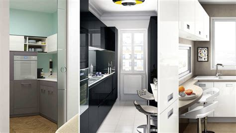 cuisines équipées design moderne bois meubles sur