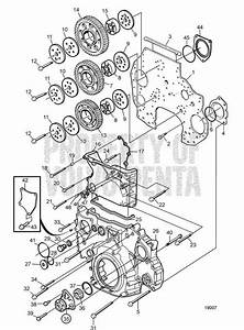 Volvo Penta Exploded View    Schematic Timing Gear Housing