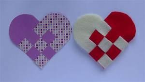 Herz Aus Papier Basteln : herz aus papier valentinstag geflochtenes herz aus papier ~ Lizthompson.info Haus und Dekorationen