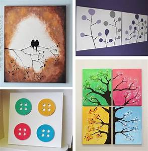 Canvas wall art ideas creative and easy diy