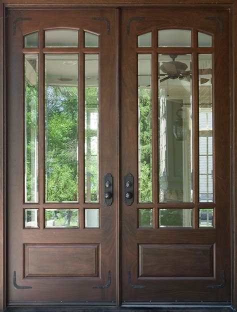 Wood Front Door With Door by Front Door Custom Solid Wood With Walnut Finish