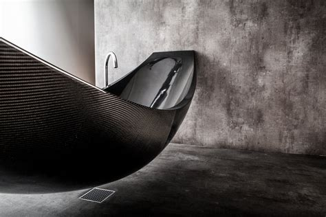 carbon fiber bathtub suspended carbon fibre bath vessel by splinter works