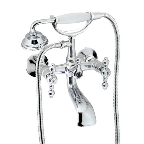 Two Handle Bathtub Faucet by Modona Classic 6 In 2 Handle 1 Spray Tub And Shower