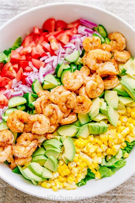 shrimp salad shrimp avocado salad recipe natashaskitchen com