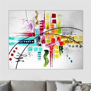 Tableau Moderne Coloré : tableau moderne couleur ~ Teatrodelosmanantiales.com Idées de Décoration