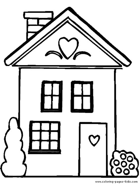 cardboard house to color house coloring pages only coloring pages nursery room