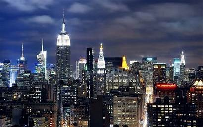 Night Skyline Skylines Wallpapers Cities Awesome