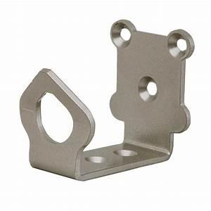 quiet glide 2 1 8 in x 1 5 8 in universal satin nickel With barn door floor bracket