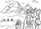 Coloring Egypt Pyramid Pages Destination Tourist Joseph Pyramids Printable Getcolorings sketch template
