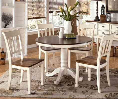 white rustic kitchen table set country white and brown dining furniture set with