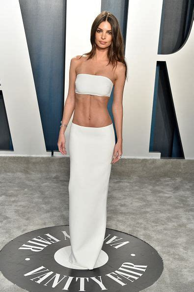 Emily Ratajkowski White Strapless Two Piece Separates 2020 ...