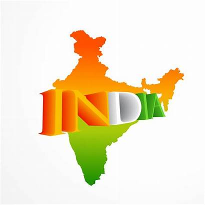 Map Indian Vector India Tricolor States Illustration
