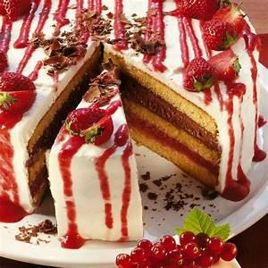 Erdbeer Sahne Torte Rezept Küchengötter