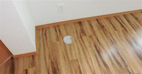 White spot on vinyl planking  help?   Hometalk