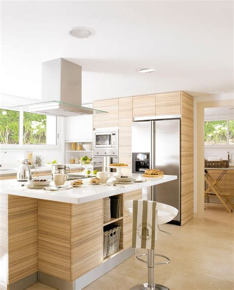cocinas muy calidas  muebles de madera varandas