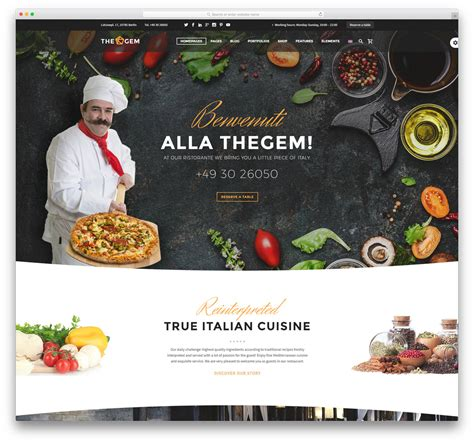 cuisine site 40 best restaurant themes 2018 colorlib