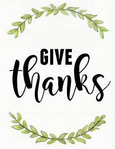 Give Thanks - November Printable! - MISS HOMEBODY