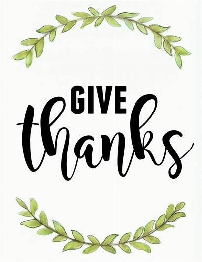 Thanks Give November Printable Happy Thankful Jooinn