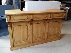 Bar En Bois : fabriquer un comptoir de bar en bois image sur le design maison ~ Teatrodelosmanantiales.com Idées de Décoration