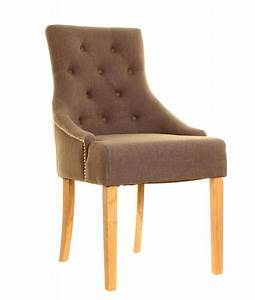 Mobel Oak Accent Upholstered Dining Chair A Pair Style