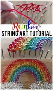 Rainbow String Art Tutorial
