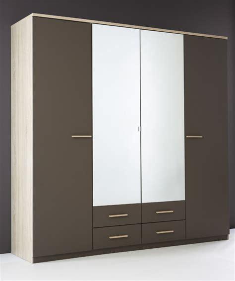 armoire chambre 4 portes armoire 4 portes 4 tiroirs selena chene taupe
