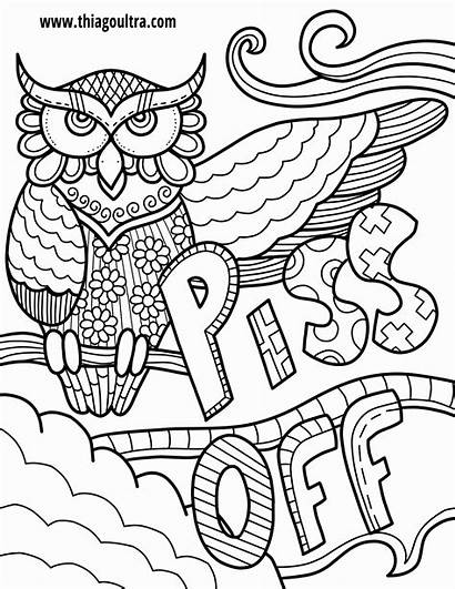 Coloring Own Pages Words Printable Word Swear