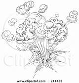 Explosion Sketch Doodle Drawing Nuclear Clipart Yayayoyo Royalty Illustration Rf Getdrawings Poster sketch template