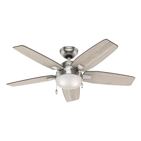 how to install a hunter ceiling fan hunter antero 46 in led indoor brushed nickel ceiling fan