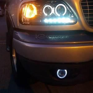 7 Color Halo 4 U0026quot  Projector Drl Fog Lights Bumper Lamp