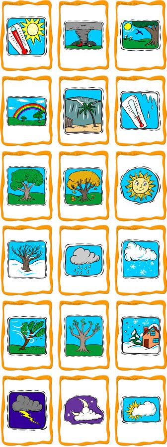 Seasons And Weather Flashcards  Esl Flashcards