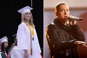 Eminem and Kim Scott watch daughter Hailie graduate high ...