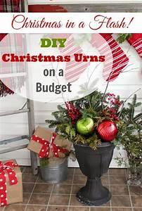 Diy, Christmas, Urns, On, A, Budget