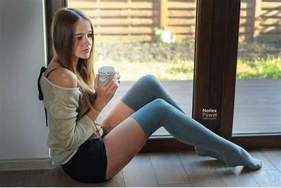 Thigh Stockings Shorts Blonde Jean Socks Leg