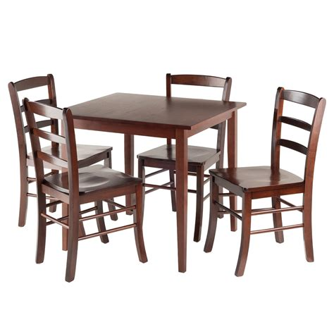 kitchen table with 4 chairs winsome 94532 groveland square dining table