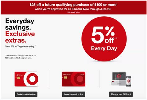 Check spelling or type a new query. Offer is Back Apply for a new Target REDcard Debit/Credit Card and Get $25 off $100 Shopping ...