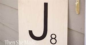 how to make jumbo scrabble tiles this will be great for With giant scrabble letters