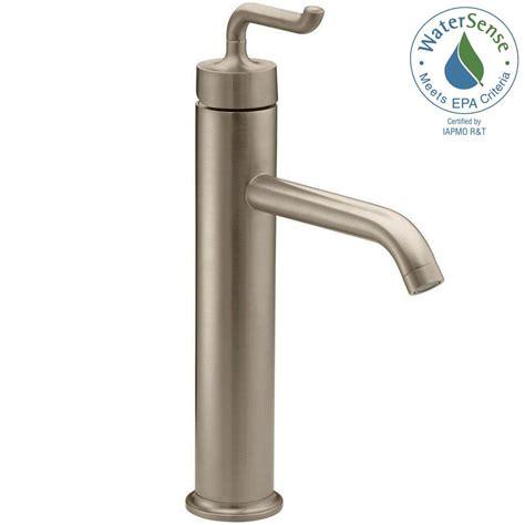 kohler vessel sink faucets kohler purist tall single hole single handle bathroom