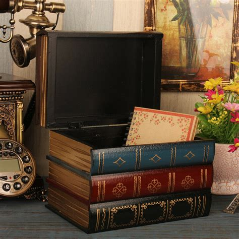 Books For Decor - vintage decorative book hiddien secret storage box