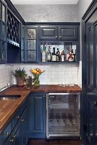 Navy Cabinets - Contemporary - kitchen - Blair Harris