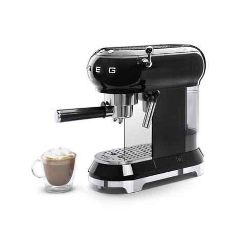 inbouw espresso smeg espresso zwart ecf01bleu espresso koffie thee